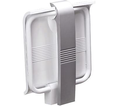 White Grey Shower Seat