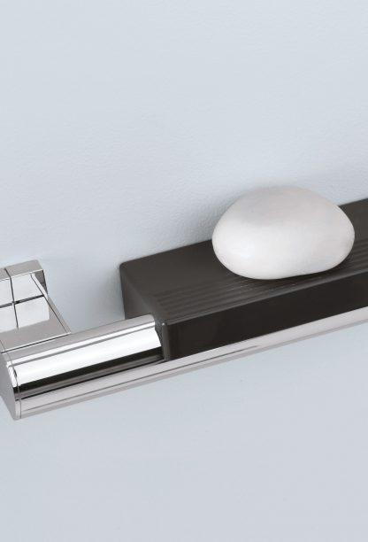 Soap Holder Chrome Grab Bar 400mm