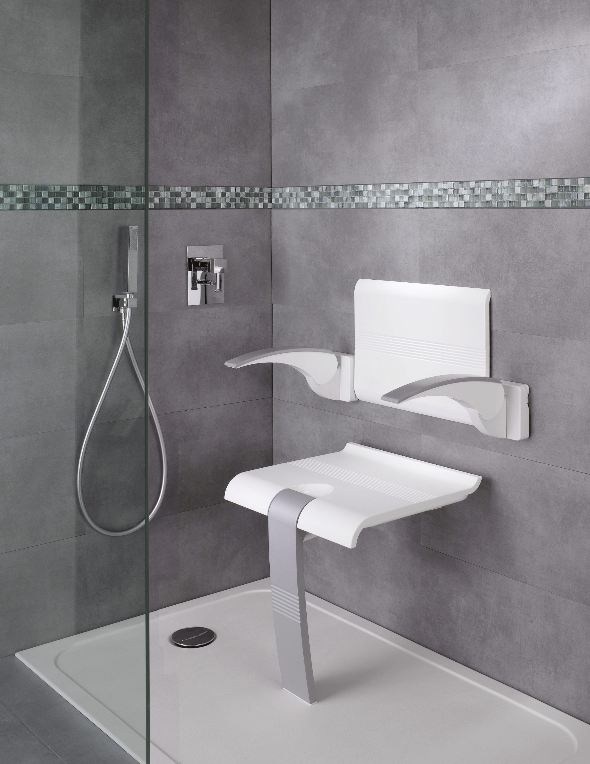 53258c0d1d2 White Backrest and Armrests for Arsis Shower Seat
