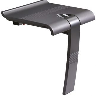 Foldaway Grey Shower Seat with leg