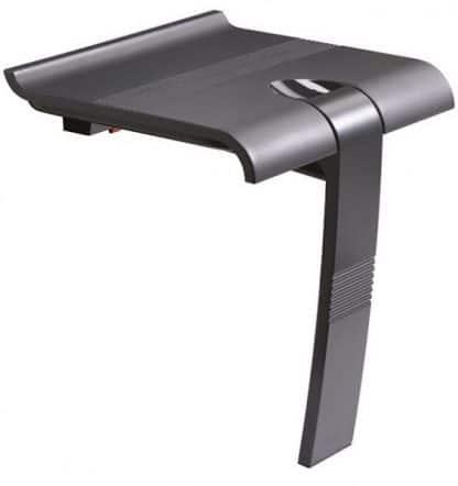 Foldaway Grey Shower Seat with leg