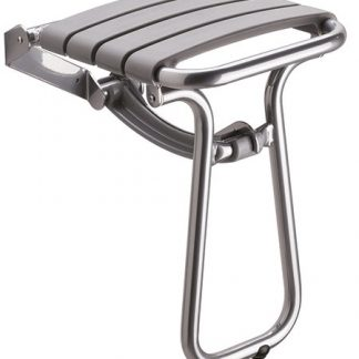 Grey Slatted Shower Seat