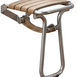 Taupe Slatted Shower Seat
