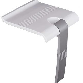 White Grey Shower Seat