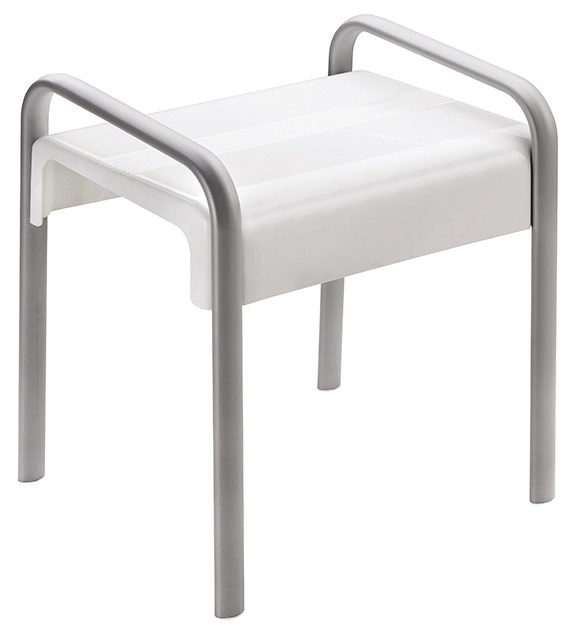 816bbc58946 White Grey Shower Stool Arsis Range