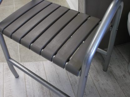 Taupe Slatted Shower Bench