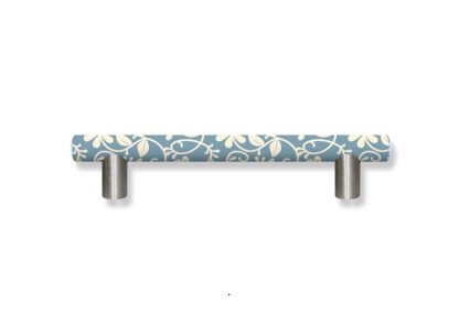 Designer Grab Bars in Teal and Cream Floral