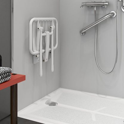 Bama Slatted Shower Seat