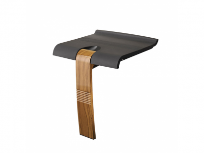 Wood Grey Shower Seat