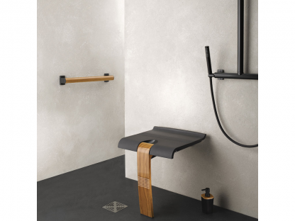 Wood Grey Shower Seat Arsis Fantasy