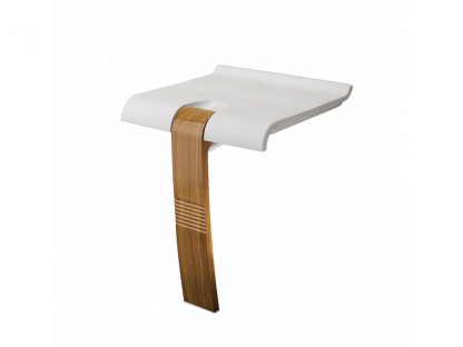 Wood White Shower Seat Arsis Fantasy Pellet