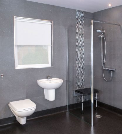 Black Padded Shower Seat