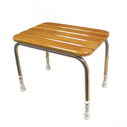 Wooden Slatted Shower Seat