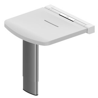 White Onyx Height Adjustable Shower Seat